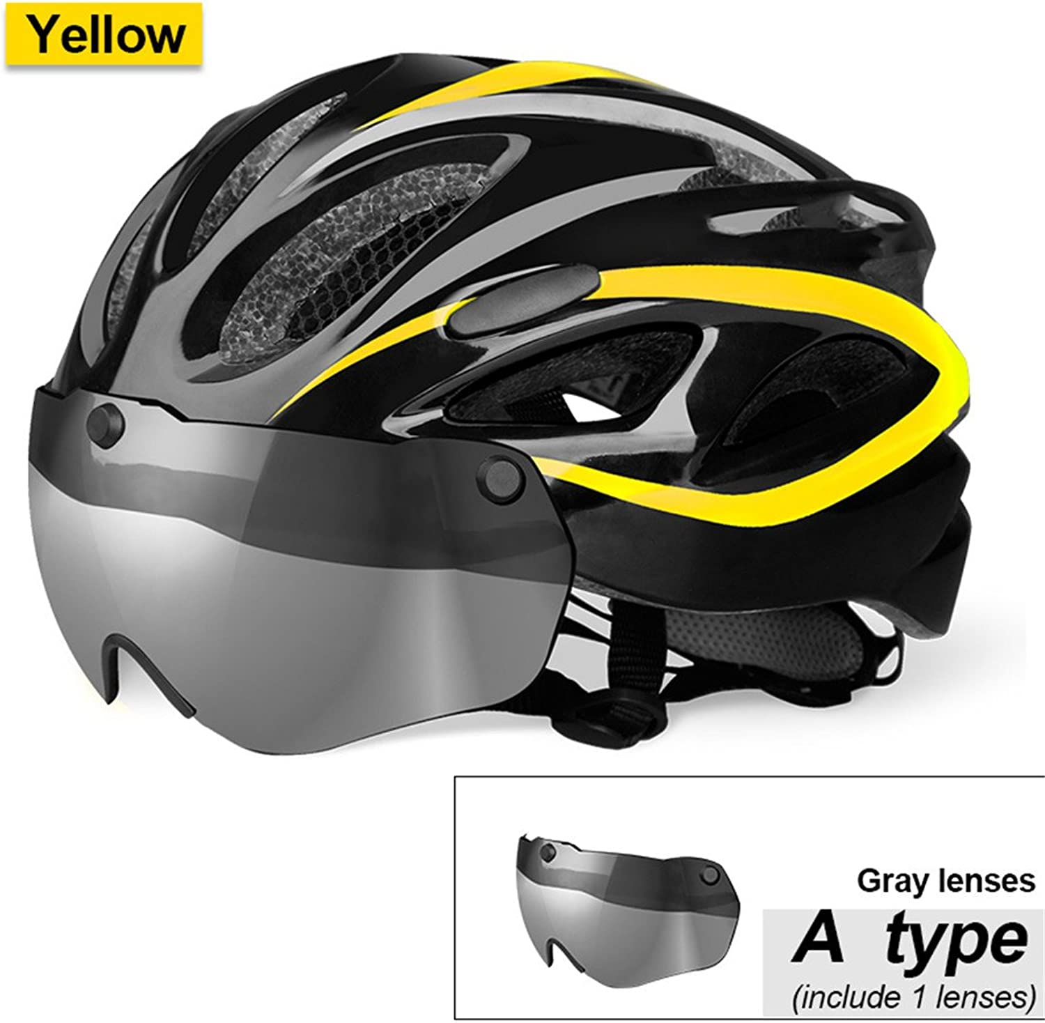 Bicycle Helmet Eps Insect Net Road MTB Bike Windproof Lenses IntegrallyMolded Cycling Casco Ciclismo