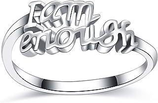 YYSSJ I Am Enough Ring Stainless Steel Jewelry Ring for Women Men Size 5-10