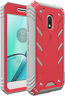 Moto G Play Case, Moto G4 Play Case, POETIC Revolution Series [Premium Rugged][Heavy Duty] Complete Protection Hybrid Case w/Built-in Screen Protector for Motorola Moto G4 Play (2016) Pink