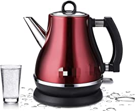 FUBINMY Elektrische waterkoker, 1,2 l, gekleurd, 304, elektrisch, roestvrij staal, waterkoker 1500 W, 220 V, snel huishoud...