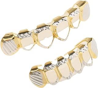 IPOTCH Hollow Top&Bottom Hip Hop Grill 18K Gold Plated Rapper Men Women Jewelry