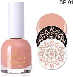 BORN PRETTY 15ml Nail Stamping Polish Bright Colors Nail Art Image Plate Printing Varnish Fast Drying Pigmented Stamp Polish(BP-01)