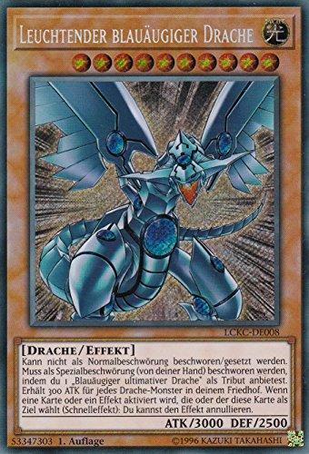 LCKC-DE008 - Leuchtender Blauäugiger Drache - Secret Rare - Yu-Gi-Oh - Deutsch - 1. Auflage