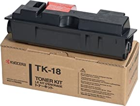 Kyocera 370QB0KM Model TK-18 Black Toner Kit For use with FS-1020D, KM-1500, KM-1815 and KM-1820 Monochrome Printers; Up to 7200 Pages Yield at 5% Coverage (ISO 10561B)