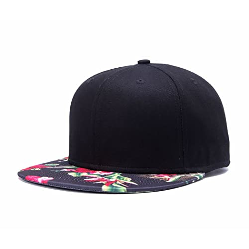 Premium Floral Flower Hawaiian Cotton Adjustable Snapback Hats Men s  Women s Hip-Hop Flat Bill Baseball f6c32ffe2f9b