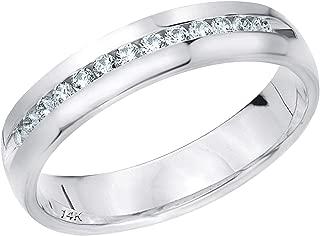.25ct Classic Men's Diamond Ring in 14K Gold, 1/4 cttw Wedding Anniversary Ring for Men