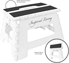 "Inspired Living Folding Step Stool Heavy Duty 9"" High S1594"