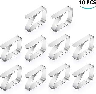 10 Pack Clips de Mantel, Clips de Acero Inoxidable Mantel Pinza para Mantel Cubierta, Ideal para el hogar, Fiestas, Picnics, Restaurante, Bodas, Buffets, Cenas