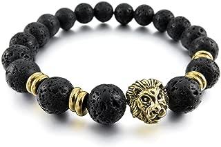 Distance des bracelets pour les amoureux 2pcs Noir mat Agate /& BLANC NACRES 6 mm PERLES