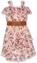 Speechless Girls' Big Sleeveless Belted Boho Dress