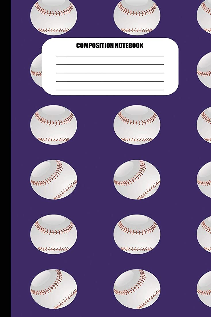 葉巻偽善サーキュレーションComposition Notebook: Baseballs in Columns Pattern (100 Pages, College Ruled)