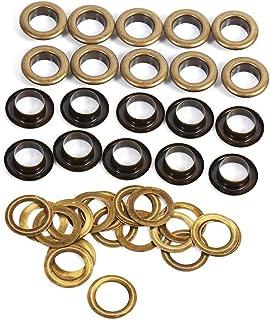 Tüllen Kit Antik Messing Bronze Schwarz Gold Runde Öse Ösen für Kleidung Leathercraft Canvas Banner(12mm 20sets)
