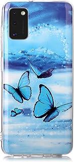 Fatcatparadise Cover per Galaxy A41 [con Pellicola in Vetro Temperato], [Chiaro di Luna] TPU Morbido Silicone Bumper Cover...