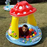 Congrouy Niños en la sombra Piscina, grandes boca Shark Seta, Baby hinchable Agua Game House, Baby Pool, Mushroom pool