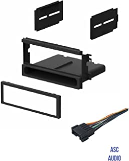 ASC Car Stereo Install Dash Kit and Wire Harness for installing an Aftermarket Single Din Radio for 2003 2004 2005 2006 Kia Sorento LX - No Sport Package