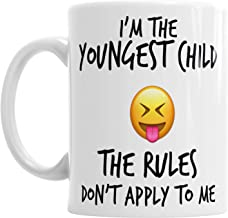 Youngest Middle Oldest Child Sister Brother Siblings Rules Emoji Coffee Mug Gift - 11oz