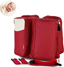 Baby 3 in 1 Multi-Functional Diaper Bags Travel Bassinet - Portable Bassinet & Changing Pad Station,B