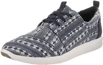 TOMS Navy Batik Stripe Women's DEL Rey Sneakers (9.5)