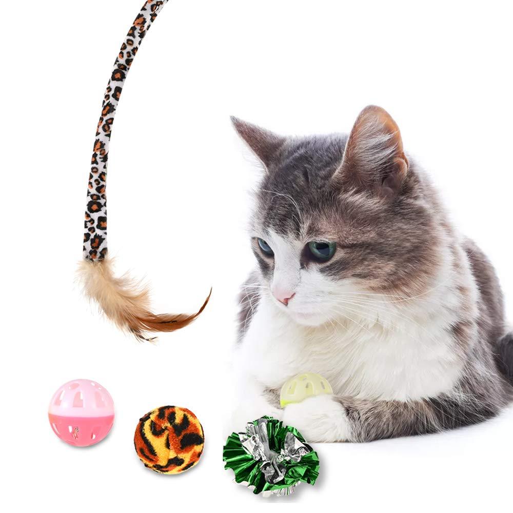GOLDGE 25 Piezas Juguetes para Gatos, Juguete Interactivo con Plumas para Gatos, Ratóns y Bolas Varias para Gatos, Juguetes para Gatos con Plumas túnel: Amazon.es: Productos para mascotas