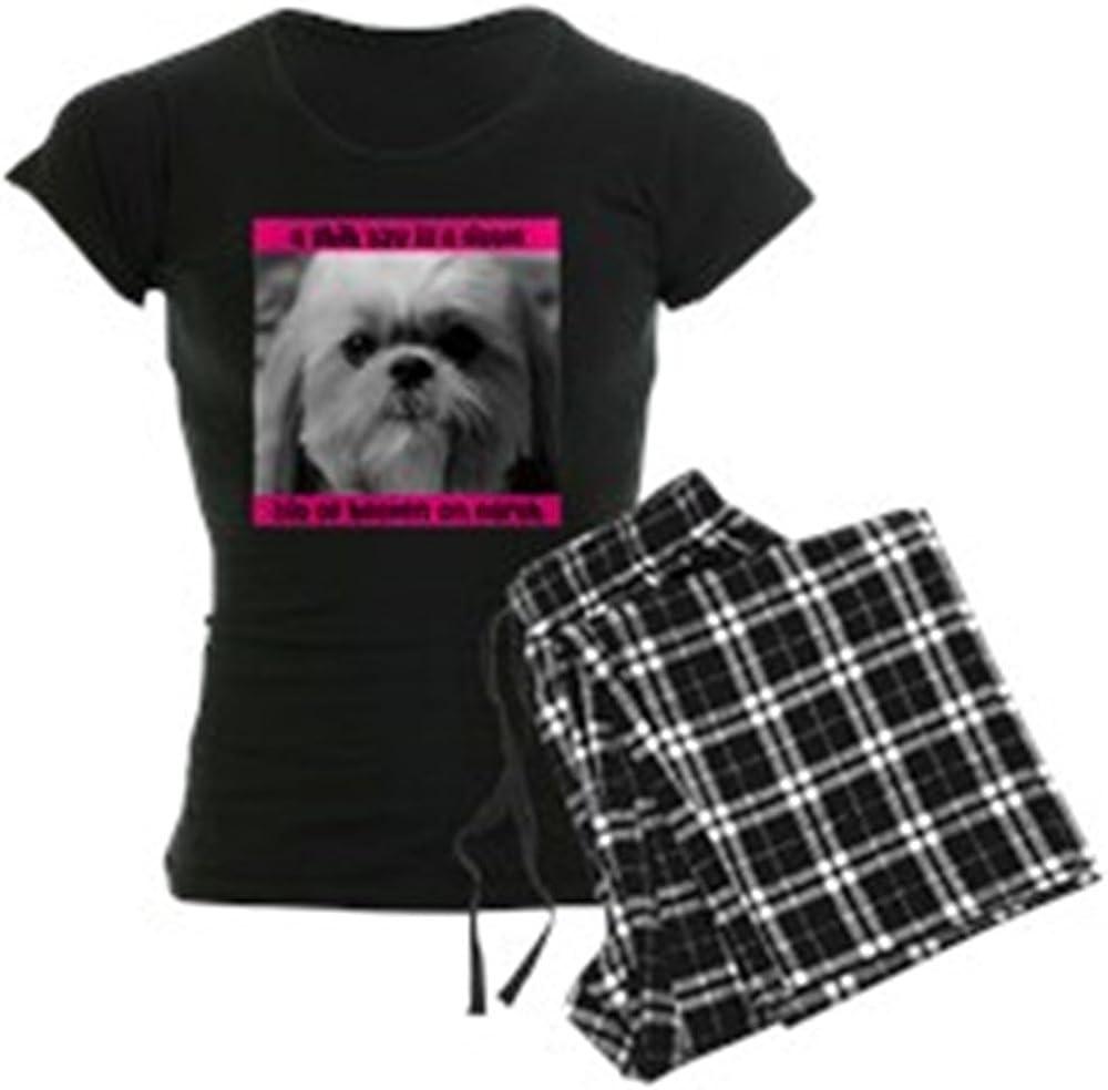 CafePress Shih 5 ☆ very popular Tzu Heaven Price reduction Dark Pajamas PJs Women's