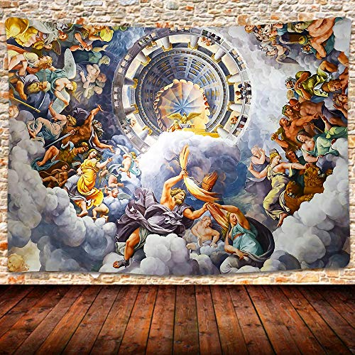 UHOMETAP Greek Mythology Tapestry Artwork Wall Hanging Ceiling Fine Versailles Greek Mythology Tapestries Mattress Tablecloth Curtain Home Decor 80x60 Inches GTWYUH263