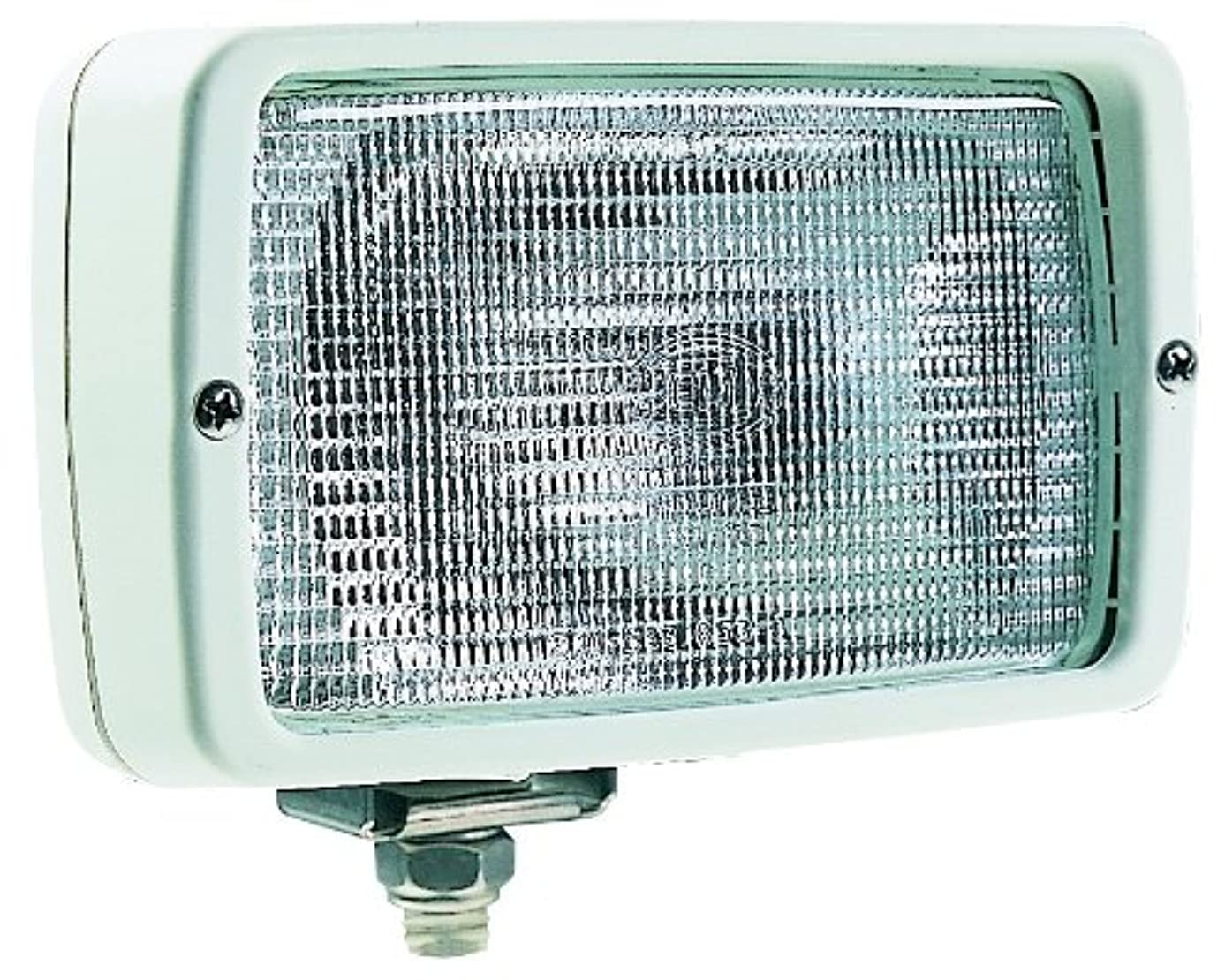 HELLA 007118051 '7118' Series 12V DC Halogen Deck Light with Structured Lens and Off-White Housing