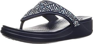 Crocs Women's Monterey Embellished Wedge Flip Flops | Sandals