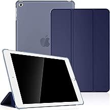 Fintie Coque pour iPad Air 2 2014 / iPad Air 2013 - SlimShell Etui Housse Case avec Support Ultra-Mince et léger avec Semi-Transparent Protecteur, Fonction Sommeil/Réveil Automatique, Bleu Marine