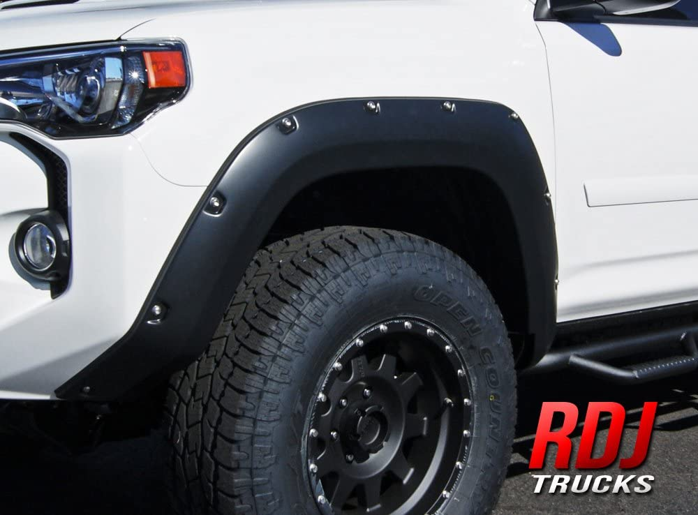 Excl 4 Piece Limited Models Smooth Paintable Matte Black Pocket Bolt-Riveted Style Fender Flare Set Tyger Auto TG-FF8T4358 for 2014-2020 Toyota 4Runner