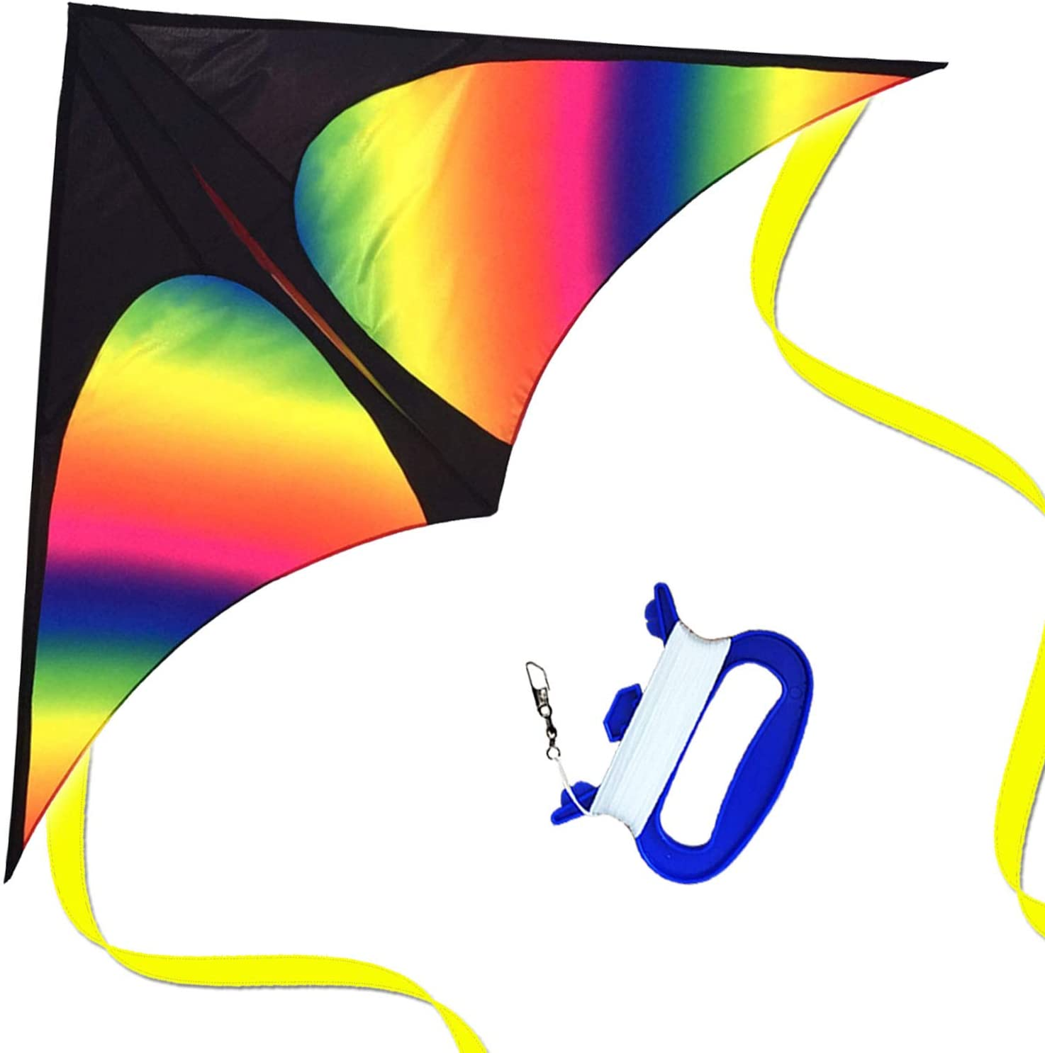 HONBO Super Special SALE held Huge Rainbow Delta Kites for Kids and with SEAL limited product Wide Adults-60