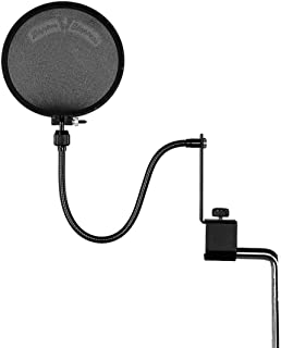 Shure PS-6 Popper Stopper Pop Filter with Metal Gooseneck and Heavy Duty Microphone Stand Clamp