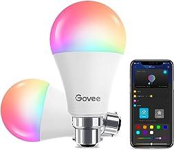 Govee WiFi LEIDENE Gloeilampen, Slimme Dimbare Kleur Veranderende LED-lamp met APP, Muzieksynchronisatie RGB Warm Wit Koel...