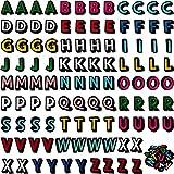 Parches de Plancha de Letras Parches de Alfabeto de Coser Parches Bordados de Tela de Letra A-Z para Sombreros, Chaquetas, Camisas y Jeans Proyectos de Costura de Manualidades (104 Piezas)