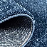 Taracarpet Kurzflor-Designer Uni Teppich extra weich fürs Wohnzimmer, Schlafzimmer, Esszimmer oder Kinderzimmer Gala dunkel-blau 120×170 cm - 2