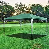 wolketon Pavillon 3x4m Wasserdicht und UV-Schutz PE Gartenzelt in Grün Farb Ohne Seitenteile Praktischer Gartenpavillon für Markt Camping Hochzeiten Festival