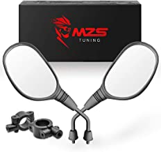 MZS ATV Mirrors Rear View 7/8 Handlebar Mount for Arctic Cat Can-am Honda Kymco Kawasaki KTM Suzuki Polaris Yamaha ATV's Motorcycle Scooter Moped GY6 Dirt Quad Bike Bicycle Cruiser Coolster Snowmobile