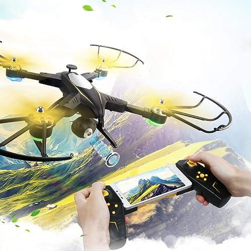 AXJJ Drohne mit Kamera Quadcopter WiFi 720P mit Mobile APP Control Faltbare H  Hold Modus Selfie Pocket RC Helikopter