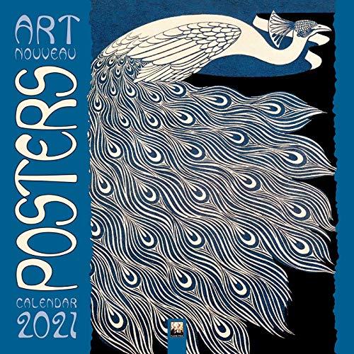 Art Nouveau Posters – Jugendstil 2021: Original Flame Tree Publishing-Kalender [Kalender] (Wall-Kalender)