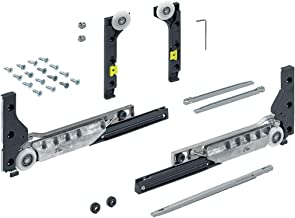 SlideLine M beslagset voor gedempte deuren (sluit-, openings- en botsingsdemping), 30 kg, deur