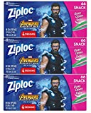 Ziploc Snack Bags, Easy Open Tabs, 66 Count, Pack of 3 (198 Total Bags)- Featuring Marvel Studios' Avengers: Infinity War Designs