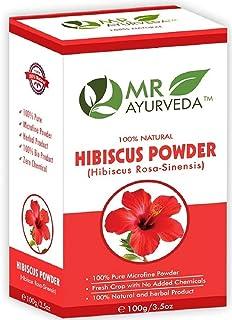 MR Ayurveda 100% Organic Hibiscus Flower (Rosa Sinensis) Gudhal Powder | For Hair Growth & Face Pack, 100 Gm