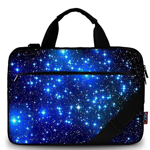 ICOLOR Starry Canvas Laptop Carrying Shoulder Sleeve Case Protective Bag Briefcase for 11.6 12 12.9 13 13.3 Inches Laptop Ultrabook Netbook CSH-01