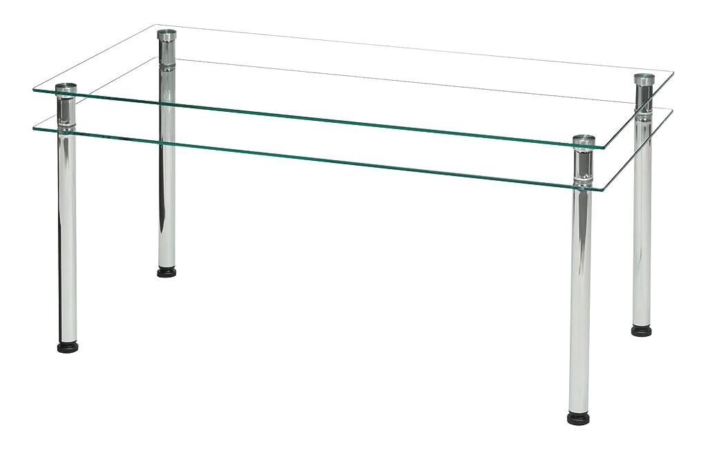エンティティはしご有効な永井興産 3WAYガラステーブル クリア お使いになるシーンで組み換え可能