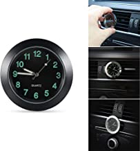 REACHS Car Dashboard Clock Cars Air Vent Quarz Clocks Mini, Perfect Decoration for Cars, SUV and MPV (Black)