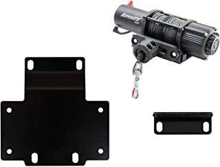 SuperATV Heavy Duty Winch Mounting Plate for Honda Pioneer 1000 (2016+) - SuperATV 5000 lb. Winch Included
