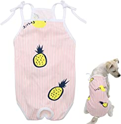 QAPZI Dog Coat Cute Cotton Dog Cat Diaper Panties Printed Pet Female Physiological Sanitary Pants Dogs Underwear Diapers bragas perra Dog s Clothes