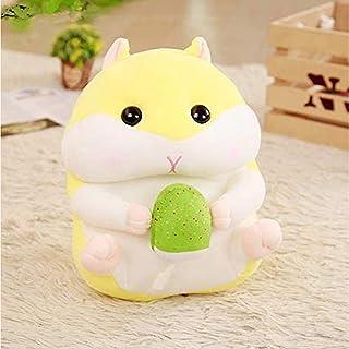 bisinisi Kawaii hamster med glass plyschdocka fylld mjuk kudde leksakssemesterpresent, kudde, dekoration, dekoration.