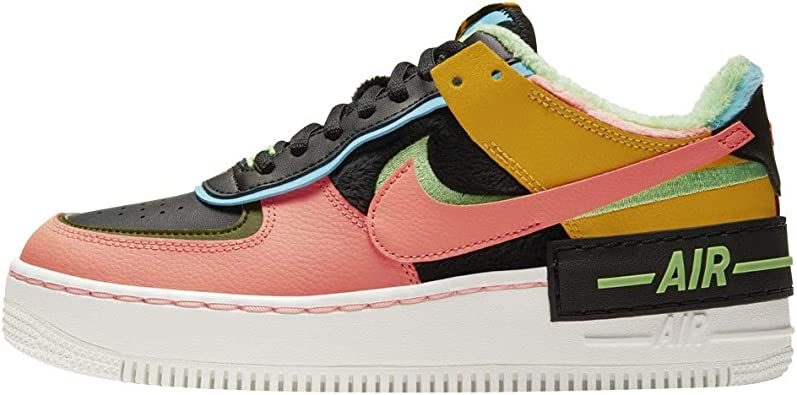 Amazon.com | Nike Women's Shoes Air Force 1 Shadow SE Solar Flare ...