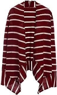 AS ROSE RICH Women's Striped Cardigans S-XL Plus Size 1X-3X Open Front Drape Knitted Sweater Outwears