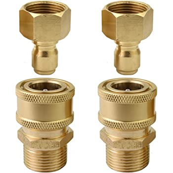 2 x 22 Male /& M22 Female Quick Coupler Fit for Garden Hose /& Pressure Washer